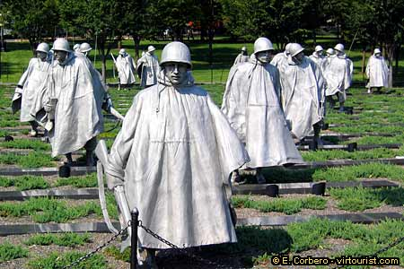 Image result for korean war memorial washington dc