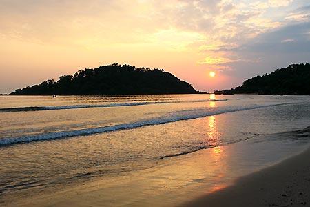 Goa Palolem Beach Sunset Virtourist Com Goa
