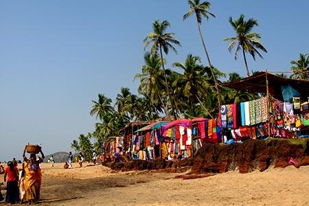 Goa, Anjuna Beach. VIRTOURIST.COM GOA