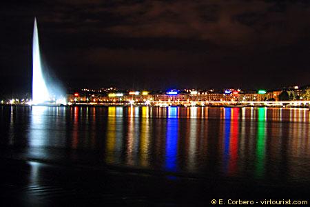 Genève la nuit par E.Corbero